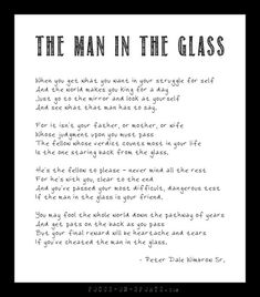 The Man in the Mirror (Glass) poem