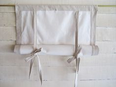 "Cotton Canvas 36"" Long Swedish Roll Up Shade Stage Coach Blind"