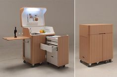 A kitchenet in size xs I compact living I kitchen