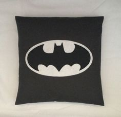 Batman Black Retro Superhero Cushion Pillow Cover by BeUniqueBaby