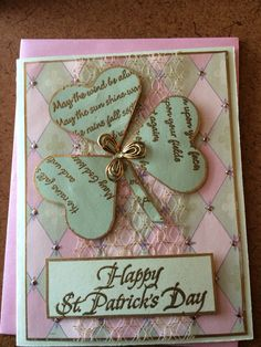 St Patricks day in shades of green and pink