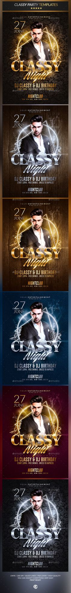 Classy Night Party   Psd Flyer Templates