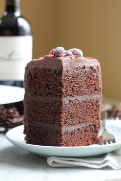 Chocolate Merlot Cake. Rich, fudgy, chocolatey goodness with a hint of Merlot. You need to try this cake.