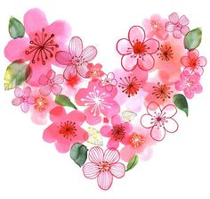 las tres somos un solo corazon y flores difentes nacidas en un mismo jardin