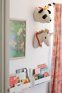 Cutest Panda and Unicorn from the @TargetStyle Pillowfort line, hanging in our toy closet! Love #TargetStyle #sponsored