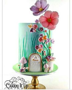 Cake Wrecks - Home - Sunday Sweets Makes Some Realistic Resolutions(Fairy Cake Ideas) Fairy Garden Cake, Garden Cakes, Fairy House Cake, Garden Theme Cake, Baby Cakes, Girl Cakes, Gorgeous Cakes, Pretty Cakes, Amazing Cakes
