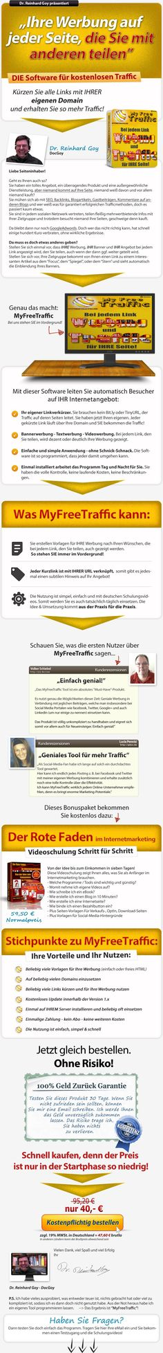 Hier Klicken und http://MyFreeTraffic.de zum Sonderpreis bestellen