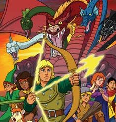 Dungeons & Dragons - awesome 80's cartoon.  Shame about the whiny unicorn, the whiny kid, and the fact that they never resolved it all.