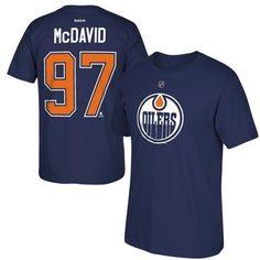 Connor McDavid Edmonton Oilers Reebok 2015 NHL Draft #1 Overall Pick Name & Number T-Shirt - Blue