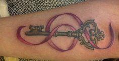 Ribbon lock and key