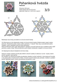 PINCH BEAD STAR - FREE Tutorial by Zrzavá Kocka Korálky. Page 3 of 3