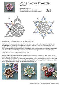 PINCH BEAD STAR - FREE Tutorial by Zrzavá Kocka Korálky. Page 3 of 3