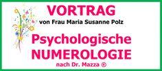 Vorankündigung: Vortrag Psychologische Numerolgie