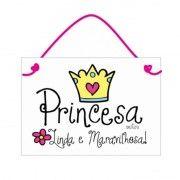 Placa para quarto Princesa Linda