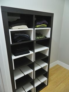 Expedit in the Closet, with half-shelf inserts - IKEA Hackers