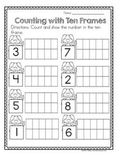Dog themed math centers and worksheets