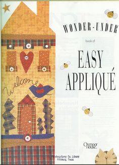 Arquivo dos álbuns Applique Quilt Patterns, Applique Fabric, Applique Templates, Sewing Appliques, Embroidery Applique, Sewing Magazines, Patch Aplique, Book Crafts, Craft Books
