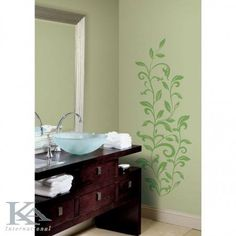 Small Bathroom Design Home Design Interior. Modern Concept Samples Photos Pictures For House Home Design Ideas. Selecting A Bathroom Til. Wall Decor Stickers, Wall Decals, Wall Art, Wallpaper Stickers, Green Bathroom Paint, Green Painted Walls, Green Walls, Painted Curtains, Do It Yourself Design