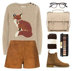 """""""Sly Little Fox"""" by wildfawn ❤ liked on Polyvore featuring Bottega Veneta, Aubin & Wills, rag & bone, Falke, Moscot, Pieces and Yves Saint Laurent"""