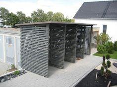 Der Floh aus Ulm - Bautagebuch von Ilona und Ralf: Holzunterstand für unser Kaminholz