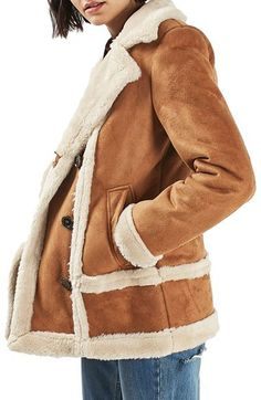 Women's Topshop Faux Shearling Car Coat  https://api.shopstyle.com/action/apiVisitRetailer?id=612245118&pid=uid8100-34415590-43