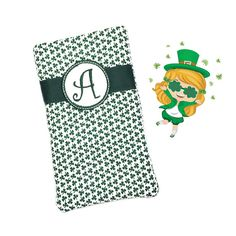 Shamrock Eyeglass Case Eyeglass Holder Personalized Eyeglass Case Monogrammed Gifts for Her Reading Glasses Case Irish Gifts Green Shamrocks by sewsationalstitches. Explore more products on http://sewsationalstitches.etsy.com
