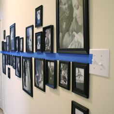 Pinterest-Inspired Gallery Wall Would be perfect for the hallway or dining wall.