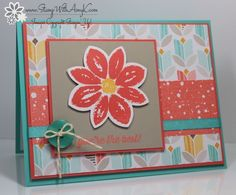 December 19, 2014 Stamp With Amy K: Stampin' Up! SAB Best Year Ever DSP, Best Year Ever Accessory Pack, SAB Simply Wonderful, Petal Potpourri, Flower Medallion Punch