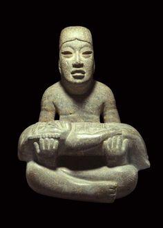 """""""Señor de las limas"""", cultura Olmeca, período preclásico medio. Las Limas, Veracruz, México. Museo de Antropología de Xalapa."""