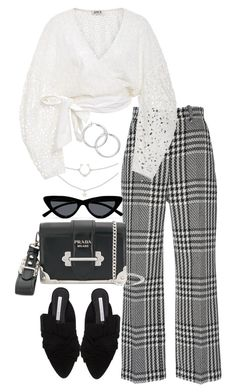 """""""Untitled #5204"""" by theeuropeancloset on Polyvore featuring Zuhair Murad, Veronica Beard, Prada, Le Specs and AMUR"""