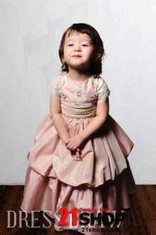 Lovely Ball Gown Short-sleeve Ankle-length Tiered Flower Girl Dress