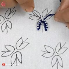 Hand Embroidery Patterns Flowers, Basic Embroidery Stitches, Hand Embroidery Videos, Embroidery Stitches Tutorial, Creative Embroidery, Simple Embroidery, Hand Embroidery Designs, Beaded Embroidery, Crafts