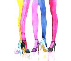 "More illustrations LINE BOTWIN ""girly illustrations"" #chic #fashion #girly #illustration Arte della scarpa moda dell"