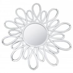 Fusion Living Large Petal Designed Wall Mirror