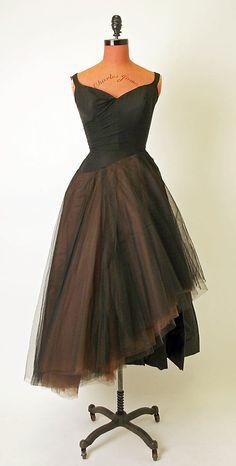 Charles James vestido de noche de 1950 a 1951