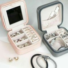 >>>Pandora Jewelry OFF! >>>Visit>> (Hot selling 5000 items OFF] - Small Faux Leather Travel Jewelr – AshySnow Fashion trends Fashion designers Casual Outfits Street Styles Travel Jewelry Box, Small Jewelry Box, Jewelry Case, Cute Jewelry, Silver Jewelry, Jewelry Holder, Cheap Jewelry, Necklace Holder, Silver Ring