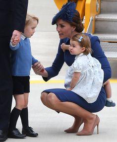 Los Duques de Cambridge y sus hijos llegan a Canadá