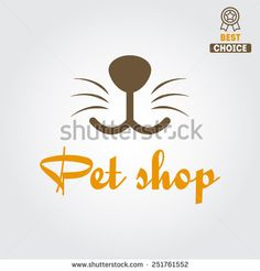 Logo for pet shop or animal clinic - stock vector