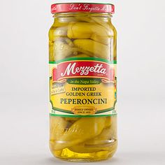 Mezzetta Golden Greek Peperoncinis, these have to be in our refrigerator or it's a bad day for Allie, ha! I enjoy a lil' spicy kick with my lunches/dinners at time!