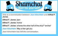 A conversation between Alfred F. Jones and Jean kirschtein