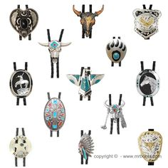 Western Bolo Ties, Cowboy Bolo Ties - from www.mrboots.com ❤// love bolo ties