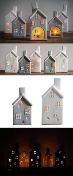 clay candle holders Ceramic House-shaped Tea Light Candle Holder,Ceramic House-shaped Tea Light Candle Holder /Ceramic House-shaped Candle Holder /Ceramic House-shaped Tea Light Candle Holder,Diy Candle Holders Ideas That Can Beautify Your Room Clay Candle Holders, House Candle Holder, Home Candles, Tea Light Candles, Tea Lights, Clay Houses, Ceramic Houses, Diy Candles Video, Cerámica Ideas