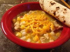 Grannie Annie's Pozole from Mom at the Meat Counter. It can be made with chicken or pork and is delicious. Dark Meat Chicken Recipe, Chicken Recipes, Pozole, Mexican Food Recipes, Ethnic Recipes, Meat Chickens, Recipe Using, Cheeseburger Chowder, Annie