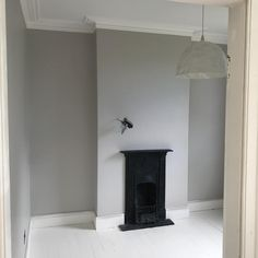Living Room Flooring, Living Room Carpet, Living Room Grey, Light Grey Paint Colors, Light Grey Walls, Wall Colours, Paint Colours, Cornforth White Living Room, Cornforth White Farrow And Ball