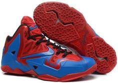 Nikes Lebron 11 Red Navy Blue