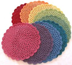 Crocheted placemats.