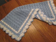 READY TO SHIP Baby Blanket Heirloom Lace by pegsyarncreations