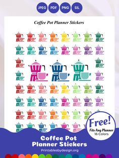 Planner Sticker Categories – Printables by Design Free Planner Pages, Happy Planner, Planner Diy, Planner Ideas, Printable Planner Stickers, Printables, Planning And Organizing, Sticker Paper, Bujo