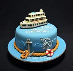 Birthday cake - cruise ship simplicitiy & colors