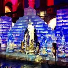 Visiting the Ice Nativity, Graz 2014